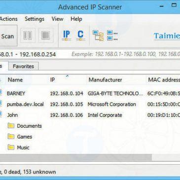 Advanced IP Scanner – Tìm kiếm địa chỉ IP máy tính