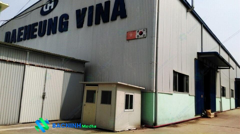 Thi công hệ thống camera quan sát cho công ty Daeheung Vina