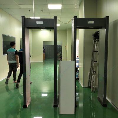 thi công lắp đặt cổng dò kim loại