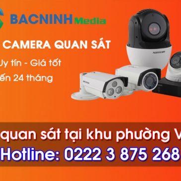 Lắp đặt camera quan sát tại phường Vạn An – Bắc Ninh