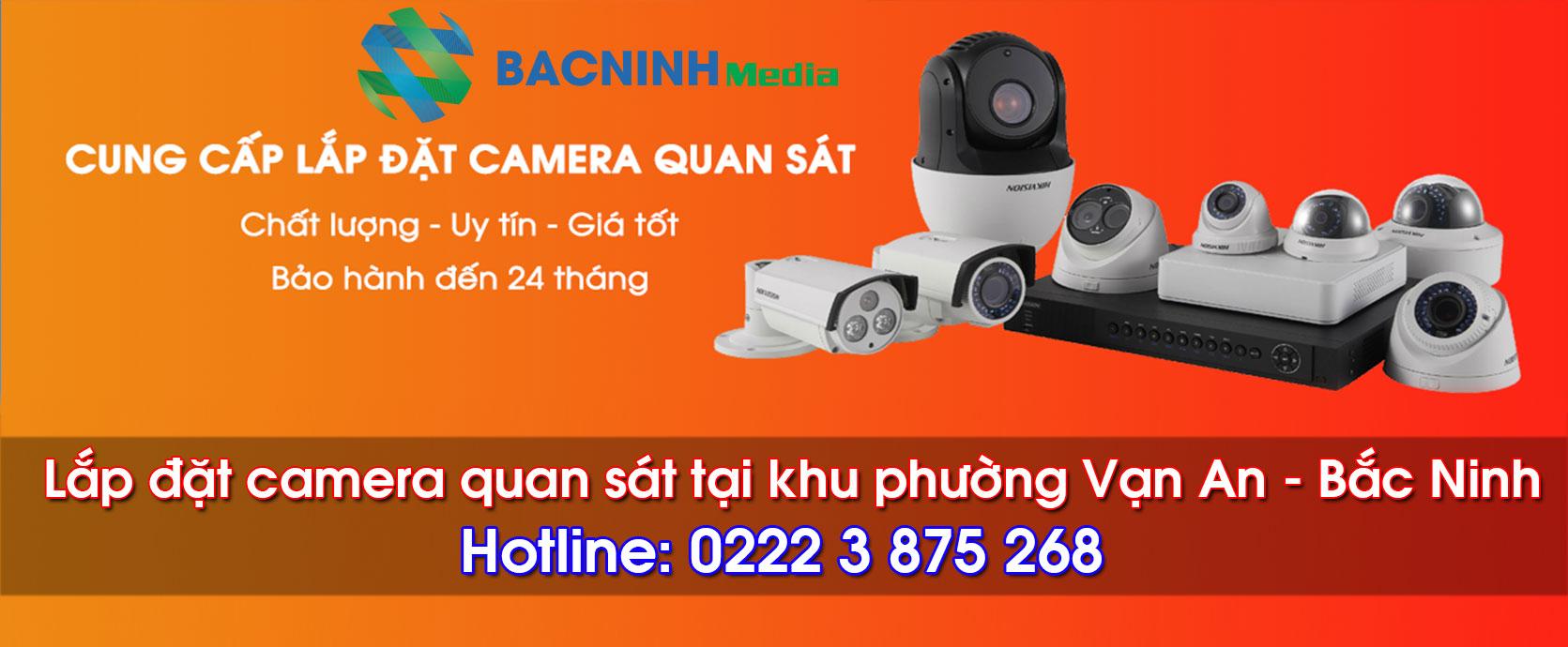 Lắp đặt camera quan sát tại phường Vạn An Bắc Ninh
