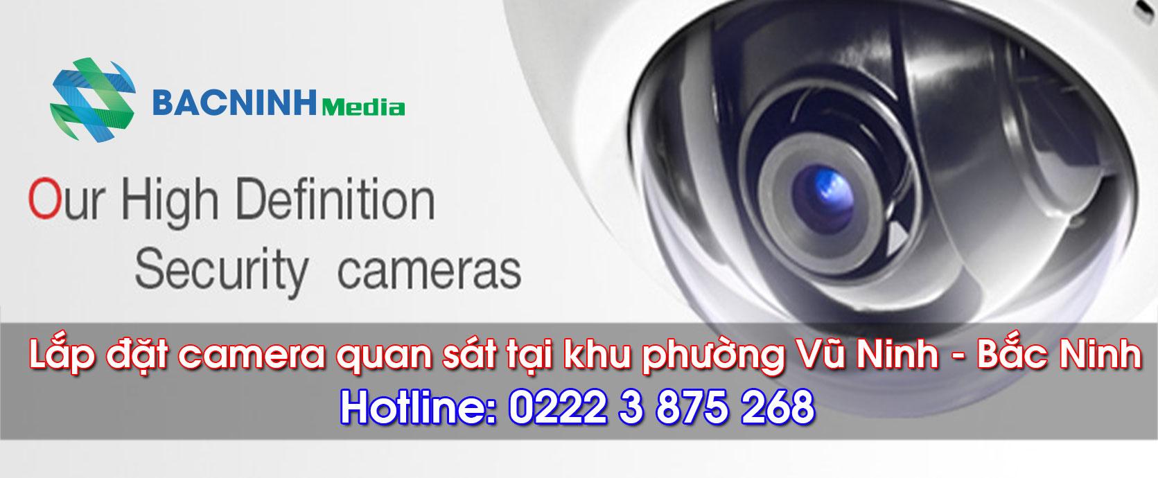 Lắp đặt camera quan sát tại phường Vũ Ninh Bắc Ninh