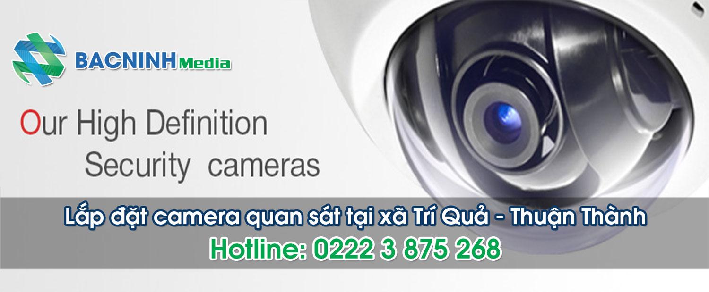 Lắp đặt camera quan sát tại xã Trí Quả, huyện Thuận Thành Bắc Ninh