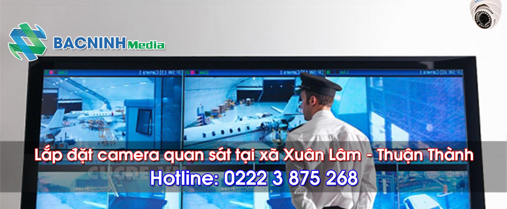 Lắp đặt camera quan sát tại xã Xuân Lâm, huyện Thuận Thành Bắc Ninh