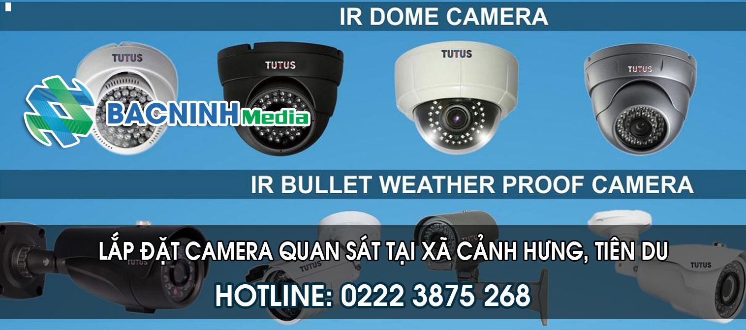 Lắp đặt camera quan sát tại xã Cảnh Hưng huyện Tiên Du Bắc Ninh