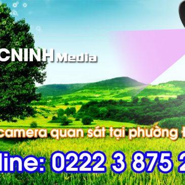 Lắp đặt camera tại phường Thị Cầu tỉnh Bắc Ninh