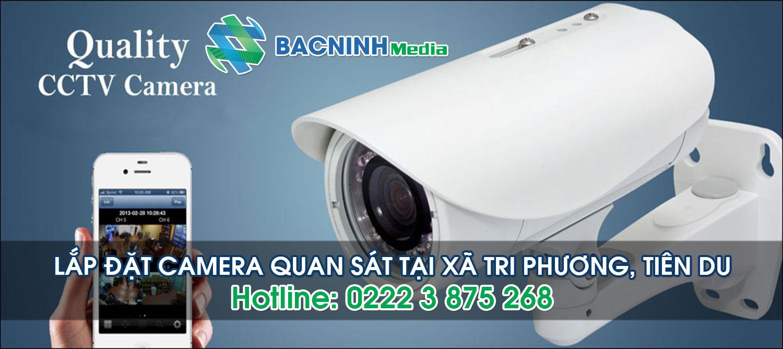Lắp đặt camera quan sát tại xã Tri Phương huyện Tiên Du Bắc Ninh