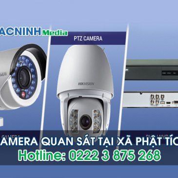Lắp đặt camera tại xã Phật Tích huyện Tiên Du