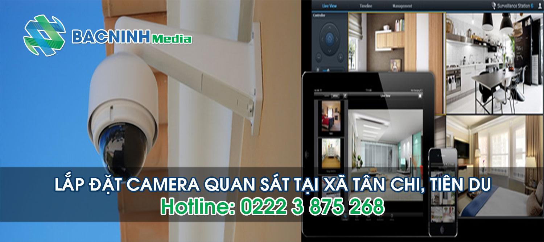 Lắp đặt camera quan sát tại xã Tân Chi huyện Tiên Du Bắc Ninh