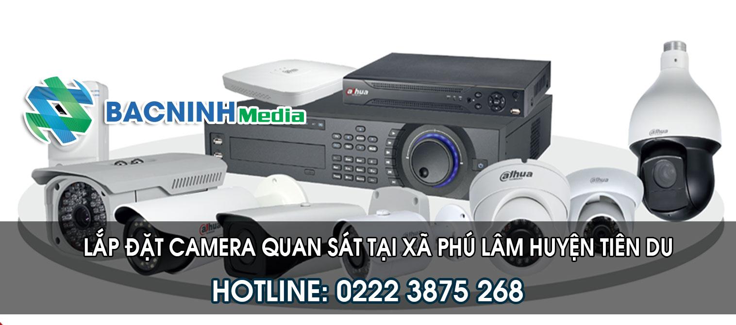 Lắp đặt camera quan sát tại xã Phú Lâm huyện Tiên Du Bắc Ninh