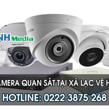 Lắp đặt camera quan sát tại xã Lạc Vệ huyện Tiên Du