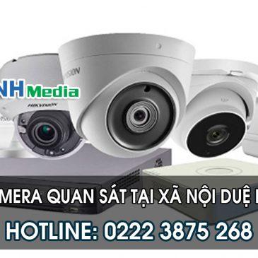 Lắp đặt camera tại xã Nội Duệ huyện Tiên Du