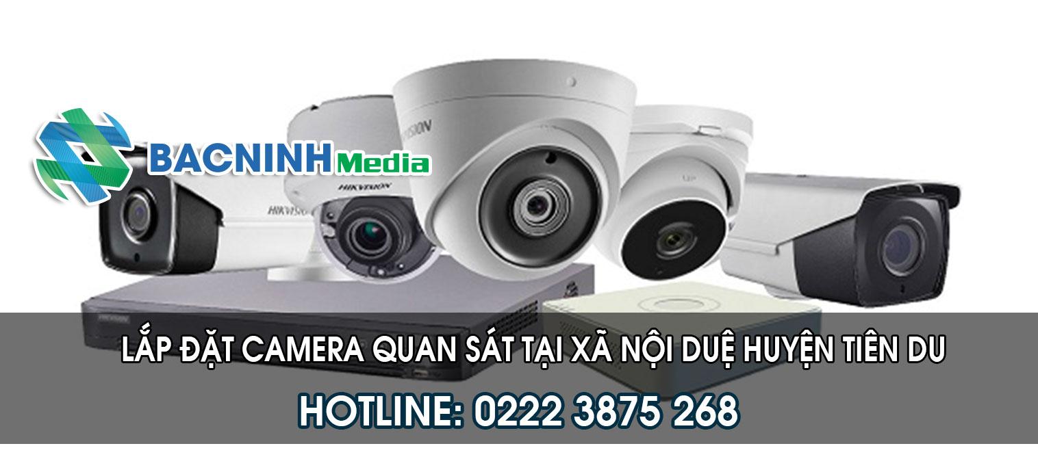 Lắp đặt camera quan sát tại xã Nội Duệ huyện Tiên Du Bắc Ninh