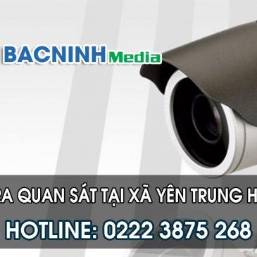 Lắp đặt camera tại xã Yên Trung huyện Yên Phong Bắc Ninh