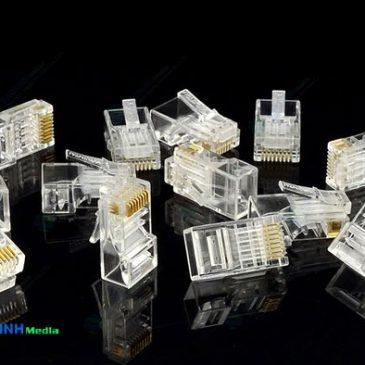 Hạt mạng AMP/Commscope cat5, cat6, Hạt mạng AMP cat6, cat7 module plug bọc kim