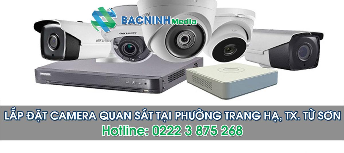 Dịch vụ lắp đặt camera tại phường Trang Hạ thị xã Từ Sơn Bắc Ninh