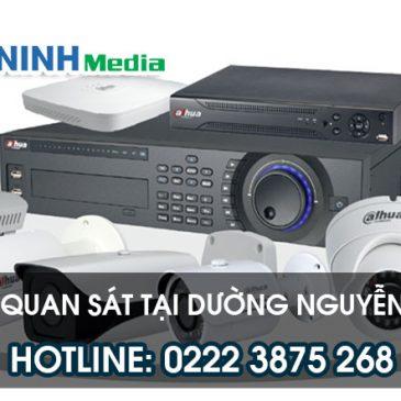 Lắp đặt camera tại đường Nguyễn Trãi, Tp bắc Ninh hotline: 0222 3 875 268