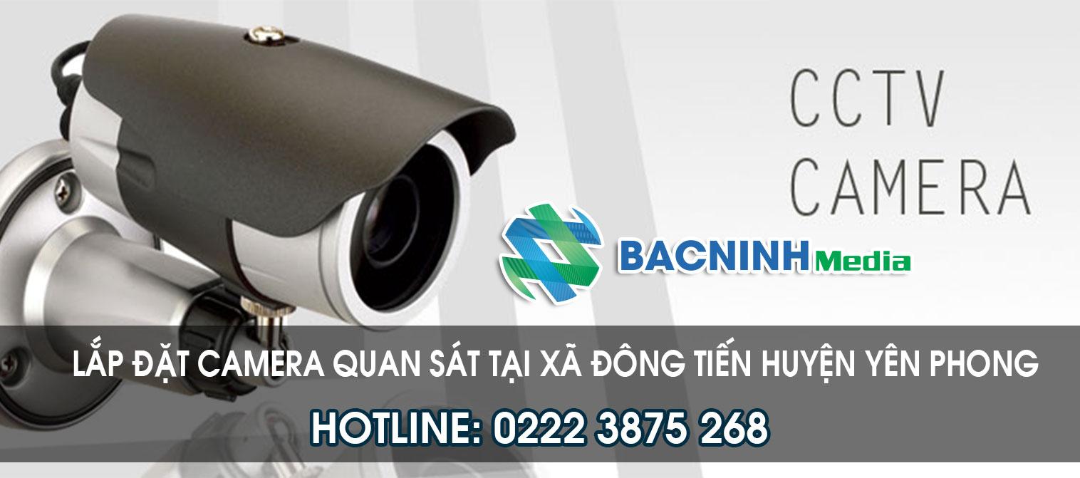 Lắp đặt camera quan sát tại xã Đông Tiến huyện Yên Phong Bắc Ninh