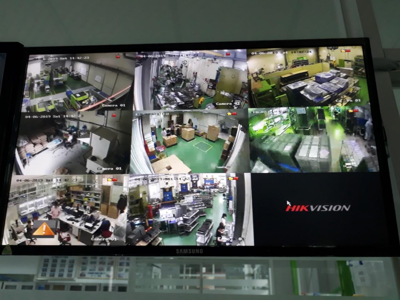 Thi công lắp đặt hệ thống camera quan sát cho công ty DongSan