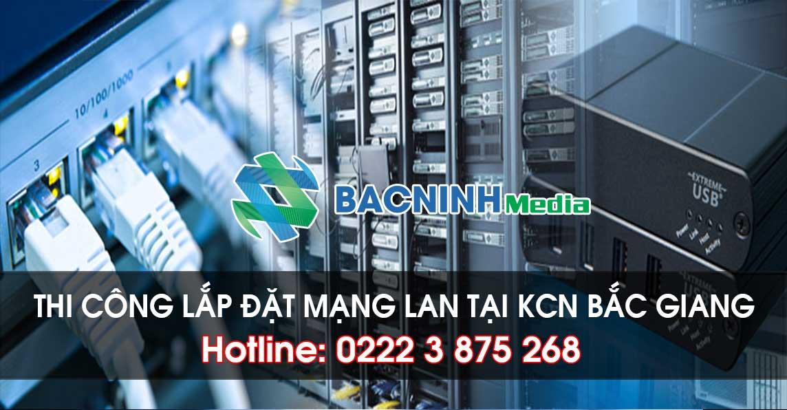 Thi công lắp đặt mạng LAN tại Bắc Giang