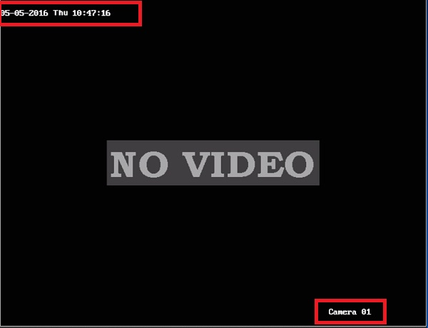 lỗi no video của camera giám sát