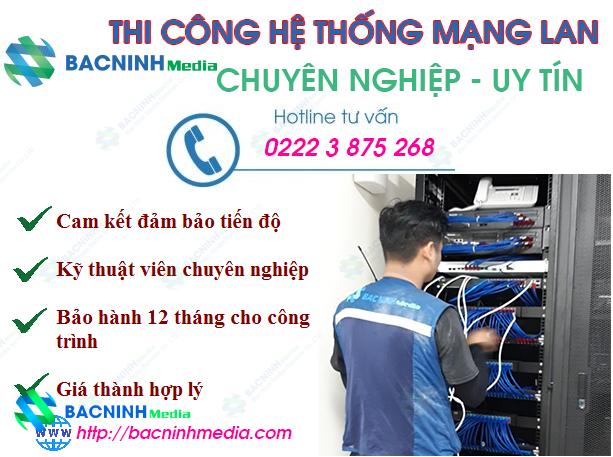 đơn vị thi công mạng LAN tại BẮc ninh