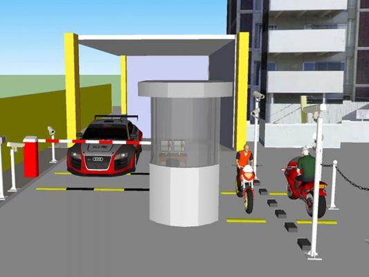 barie tự động bãi giữ xe thông minh