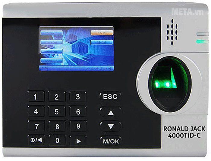 máy chấm công vân tay thẻ cảm ứng ronald jack 4000tid-c